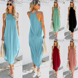 $enCountryForm.capitalKeyWord Australia - Newest Women Dress Summer Sexy Casual Boho Long Maxi Evening Party Beach Dress Vest Sundress Stamp Comfortable Long Dress