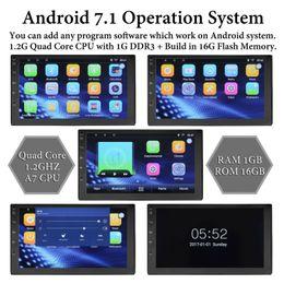 Großhandel Bluetooth Auto Stereo Navigation GPS Radio Head Unit USB Kamera Spiegel Link 2 Din Quad Core