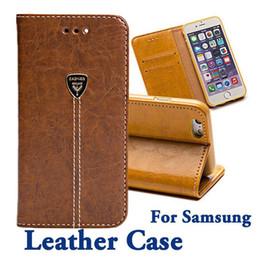 Filp Wallet Case Australia - For Samsung S7 Leather Case S6 Edge Plus Note 5 4 Defender Case Vintage Retro Stand Wallet Leather Filp Case Factory Outlet