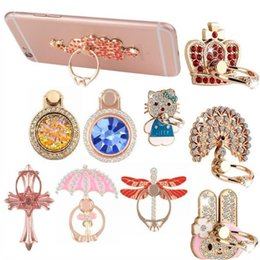 Wholesale New Ring Phone Holder Bling Diamond Unique Mix Style Cell Phone Holder Fashion For iPhone x Samsung S9 cellphone stand iPad