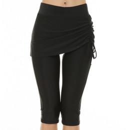 5b67c8acdd Women Swimwear Bottoms Black Swim Pants Cropped skirt Fitness Swim Trunks  Surf Sport Shorts Slim Leggings Tights