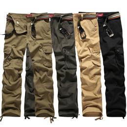 Yeni Kamuflaj Pamuklu erkek Açık Spor Ordusu Savaş Taktik çok cepli pantolon Erkekler Yürüyüş Casual Kargo Pantolon Çalışma Pantolon Tırmanma