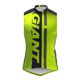green giant clothing UK - 2020 GIANT team Cycling Sleeveless jersey Vest New Men Summer Quick-drying Breathable Bike Clothing Outdoor Sports U20042902