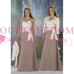 9f2e7693a84 2019 New Elegant With Jacket Mother Of The Bride Dresses A Line Spaghetti  Formal Evening Dresses Mother Dresses Custom Made