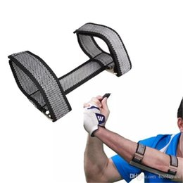 swing trainer golf training aids NZ - Golf Beginners Training Aids Golf Swing Straight Practice Elbow Brace Posture Corrector Support Arc Trainers Golf Accessories 2018102906
