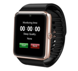$enCountryForm.capitalKeyWord Australia - GT08 Bluetooth Smart Watch with SIM Card Slot and NFC Health Watchs for Android Samsung and IOS Apple iphone Smartphone Bracelet Free shipp
