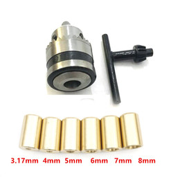 $enCountryForm.capitalKeyWord Australia - Drill Chuck 0.6-6mm Mount B10 Adapter With key + Copper Connect Rod Motor Shaft 3.17mm 4mm 5mm 6mm 7mm 8mm for power tools