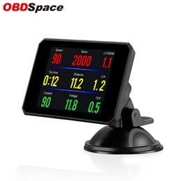 Fuel Consumption Display NZ - OBDSPACE P16 OBD2 Diagnostic Tool On Board Computer Car Water Temperature Volt Digital Display Fuel Consumption Car Speed Gauge