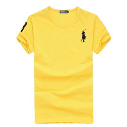 9dbcbcbd 100% Cotton 2019 Men Brand Big Horse Embroidery funny men t shirt casual  short sleeve mens T-shirt Fashion cool T shirt S-5XL
