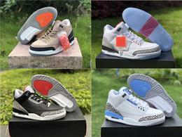 online retailer 05fd4 aa838 Hot Sale Men s J 3 3s Free Throw Line Basketball Shoes Bio Beige Michigan  Black Cement UNC Sports Shoes Size US7-13