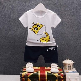 67e21cd903f2a good quality Summer Baby Boys Clothing Sets Kids Cartoon Clothes Tops  T-shirt + Shorts 2Pcs Infant Boys Clothes Sport Suit Outfits