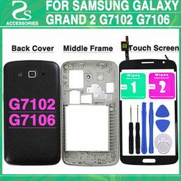 Clear Housing Australia - New G7106 Battery Cover For Samsung Galaxy Grand 2 II Duos G7102 Full Housing Back Cover + Middle frame + Touch