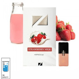 strawberry pack 2019 - Very hot selling 4 pcs of Ziip Pods (4 per pack) compatible with for Juul Strawberry Milk flavor 5% Nic