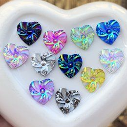 $enCountryForm.capitalKeyWord UK - Wholesale 600pcs fashion style Heart&Flower Rhinestone AB Resin Flatback 10mm handsewing gem stones crystal wedding decoration B81