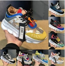 most popular casual shoes UK - Most Popular Chain Reaction Black Multi-Color Designer Shoes Mens Womens 2019 Discount Price Link-Embossed Sole Casual Trainer US 5.5-11