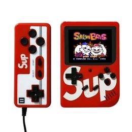 Sup caja 400 Juego en 1 consola de juegos portátil de 3,0 pulgadas super gran pantalla a color LCD Soporte de salida de AV 2Player Negro en venta