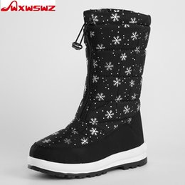 Lady Snow Boots Mid Calf Australia - 2019 WXWSWZ 2018 Winter Women Boots Mid-Calf Down Boots Plush Insole Botas Female Waterproof Ladies Snow Boots Girls Woman Shoes