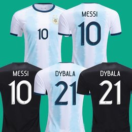 Wholesale 2019 Argentina Soccer Jerseys Argentina Home soccer Shirt MESSI AGUERO DYBALA DI MARIA away football uniform size S XL