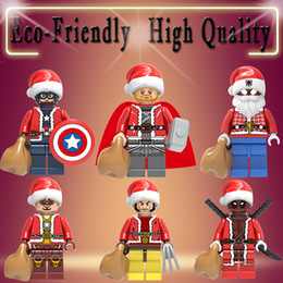 mini action figures building block Canada - Marvel Action Figure Super Heroes Iron Man Wolverine Thor Deadpool mini Building Blocks figures Kids Christmas Toys for Children X0222