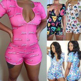 women jumpsuit romper playsuit Australia - 2020 New Women Summer GYM Yoga Sports Set Floral Deep V Long Sleeve Stretch Playsuit Bodycon Party Jumpsuit Romper Trousers