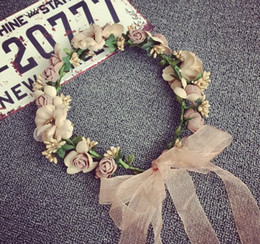 $enCountryForm.capitalKeyWord Australia - Flower Crown Headband Rattan Vine Floral Wedding Bridal Hair Party Decoration Headdress Christmas Handmade Headpiece Girls Hair Accessorie