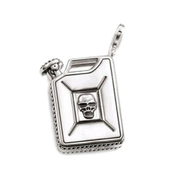Necklace drum online shopping - Skull Oil Drum Charms for DIY Jewelry Making Silver Accessories Fit Bracelets Necklaces for Women Men New Arrivals