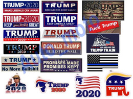cartoon train cars NZ - free shipping 18 types New Styles Donald Trump 2020 Car Stickers train Sticker Keep Make America Great Decal for Car Styling Vehicle Paster
