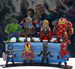 $enCountryForm.capitalKeyWord Australia - 8 Avengers 4 Anime Hand Crafts Marvel Hero Q Version Spiderman Model Toy Car Hand Colored