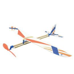 children kits NZ - DIY Kids Toys Rubber Band Powered Aircraft Model Kits Toys for Children Foam Plastic Assembly Planes Model Science Toy Gifts