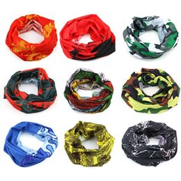 Wholesale Sport Bicycle Multi Functional Bandana Headband Camouflage Leaves Seamless Magic Bandanas Tube Ring Scarf