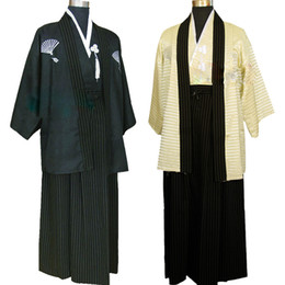 Wholesale traditional kimono men resale online - 3 Vintage Kimono Japones for Man Japanese Traditional Dress Male Yukata Stage Performance Dance Costumes Hombres Quimono