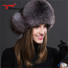 $enCountryForm.capitalKeyWord Australia - New Russia Hot Fox Fur Hat Fashion Winter Warm Raccoon Bomber Fox Fur Hat With Ear Flaps For Women Thick and Warm Fur Cap H#37 D19011503