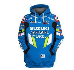 Suzuki logoS online shopping - 2019 New Motorcycle Hoodie For Suzuki Printed Embroidery Auto Logo Sweatshirt Hooded Jacket Coat RR GSXR GXS Moto Clothing