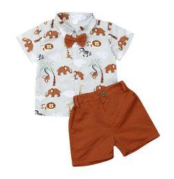 $enCountryForm.capitalKeyWord Australia - 2019 Summer Toddler Boys Party Gentleman Formal Suit Cotton Dress Shirt+Shorts Pants School Clothes Outfits