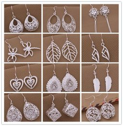 Personalized Christmas Plates Australia - Mixed style 925 silver plated drop earrings fashion jewelry personalized Christmas to send his girlfriend   wife gift free shipping