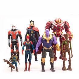 Iron Man Avengers Figure Australia - 7 Style Avengers Endgame Action Figures toys 2019 New Avengers 4 Thanos Iron Man Captain Marvel Hulk Captain America model doll toy