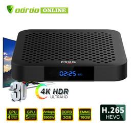 Hot Box Internet Australia - 2019 Hot M9S W2 Android 7.1 TV Box Amlogic S905W Quad-core 64 Bit 2GB 16GB 4K UHD WiFi & Lan VP9 DLNA H.265 Internet Media Streaming Player