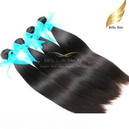 human hair weave straight 4pcs NZ - Malaysian Hair Straight Weave Silky Human Hair Extensions Hair Weft 10-34 Inch Grade 9A 4pcs lot Natural Color