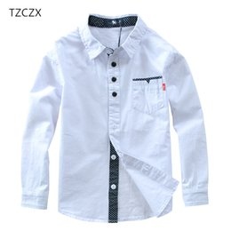 european style clothes for kids Australia - TZCZX Hot Sale Children Shirts European and American Style Cotton 100% Solid Kids Shirts Clothing For 4-12 Years Wear