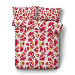 $enCountryForm.capitalKeyWord Australia - Kids Pink Strawberry Girls Duvet Cover Set White 3pc Bedding Set With 2 Pillow Shams Soft Cotton Polyester Comforter Cover Watermelon Fruit