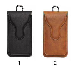 Leather beLt Loop cases online shopping - Wallet Phone Storage Pouch Waist Bag Hook Loop Artificial Leather Protective Cases Belt Fashion Vertical