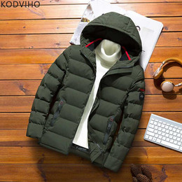 Wholesale wear green hat for sale – halloween Mens Jackets Winter Parka Puffer Coat Plus Size Men Warm Puffy Jacket Casual Wear Padded Outwear Army Green Quilted XL XL XL