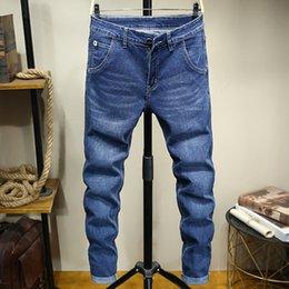 Wholesale mens jeans 46 resale online – designer 44 Men S Large size Classic Jeans Mens Pants plus Size Slim Fit trousers Streetwear Blue Stretch Straight pants Fashion jeans