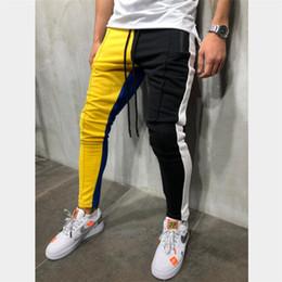 $enCountryForm.capitalKeyWord Australia - Men Hip Hop Pants Gym Jogging Mens Cotton Sweatpants Autumn 2019 Patchwork Trousers Men Casual Pants Trousers Streetwear