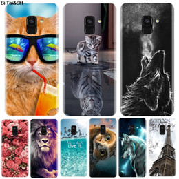 cute silicone cases Canada - Phone Case For Samsung Galaxy A6 A8 Plus 2020 Soft Silicone TPU Cute Cat Painted Back Cover For Samsung A3 A5 A7 2016 2020 Case