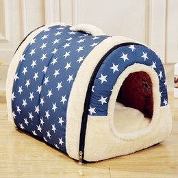 $enCountryForm.capitalKeyWord Australia - Pet Dog House Nest With Mat Foldable Pet Dog Bed Cat Bed House For Small Medium Dogs Travel Kennels For Cats Pet Products D19011201
