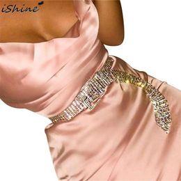 Glitter Belts Australia - Inlaid Ten Rows Of Glittering Rhinestone Waist Chain Suitable For Nightclub Performance Belt Fashion Trend Female Accessories