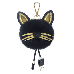 usb decorations UK - Portable USB Braided Cord Keychain Handmade Pom Pom Ball Pendant Jewelry Charm Keyring Bag Decoration Keychain Accessories