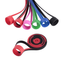 Ego Battery Lanyards NZ - Universal Silicon Lanyard Electronic Cigarette for Ego Eovd Battery Kit Neck Sling Colorful Accessories With String Necklace Ring Vape Band