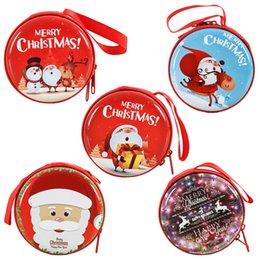 small zip wallet Australia - Original Christmas Kid Gift Santa Claus Coin Purse For Candy Children Pocket Small Money Wallet Pouch Zip Coin Bag xmas gift
